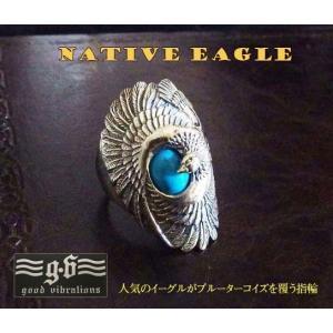 (GV)イーグルとターコイズの指輪(1)  羽根 鳥  動物  リング(メイン)|0001pppcom