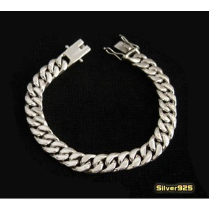 喜平ブレスレット太さ9mm20.5cm/(メイン)・シルバー925銀シルバーブレス重量あり(メンズ)(補722)|0001pppcom