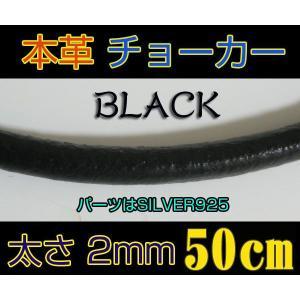 レザーチョーカー黒2mm50cm/(メイン)レザーチョーカー・シルバー925銀(人気商品)売れ筋/|0001pppcom