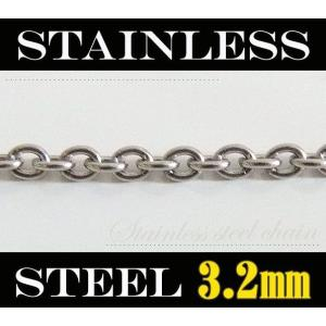 ステンレス あずきチェーン3.2mm選択可50cm 55cm 60cm メイン 0001pppcom
