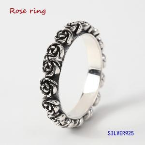バラの指輪(4)05号・07号・09号・11号・13号・15号・17号・19号・21号・23号・25号/(メイン)シルバー925銀指輪・リング薔薇(補722)|0001pppcom
