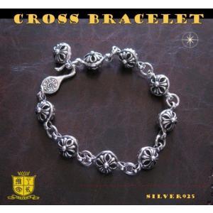 クロスボールブレスレット(1)/(メイン)シルバー925製ブレスレット銀・十字架クロス|0001pppcom