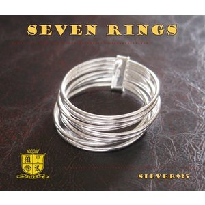 7連リング(1)10号・13号・15号・18号/(メイン)シルバー925銀シンプル指輪ピンキーリングレディース女性|0001pppcom