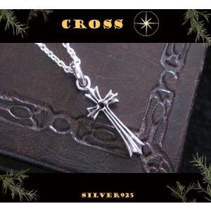 スモールクロスチャーム(1)BCZ/(メイン)シルバー925銀十字架ペンダントネックレス 0001pppcom