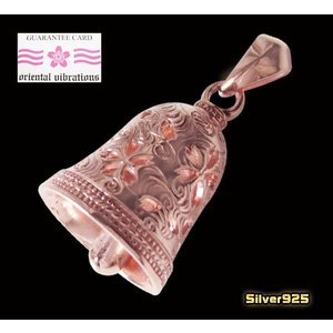 【OV】桜・ベルペンダント(1)/・和風デザイン・桜色・ピンクゴールド・ネックレス・|0001pppcom