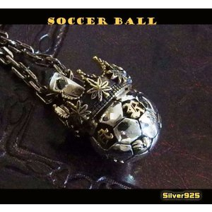 【RV】サッカーボールのペンダント(1)SV+B/レゲエ・ラスタネックレス|0001pppcom