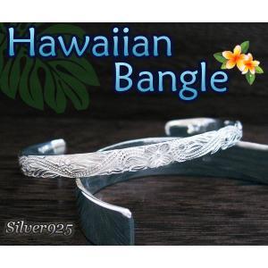 ハワイアンバングル(4)/(メイン) プルメリアシルバー925|0001pppcom