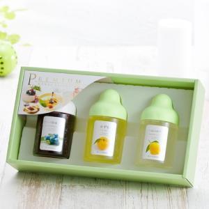 L3P 【果汁蜜】300g×3本セット(ブルーベリー、ゆず蜜、レモン)