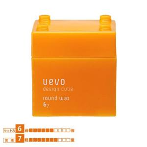 UEVO Design Cube ウェーボ デザインキューブ ラウンドワックス 80g|0109