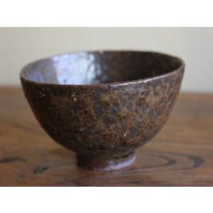 信楽焼 錆(さび)茶碗|010gama