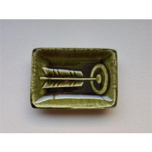 掌豆皿 当り的 織部|010gama