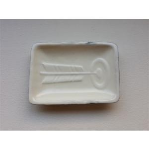 掌豆皿 当り的 白粉引|010gama