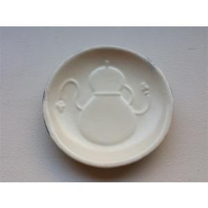 掌豆皿 瓢箪 白粉引|010gama