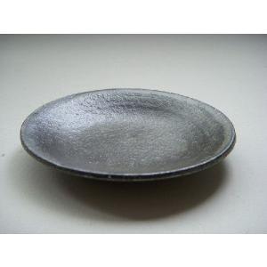 信楽焼 豆皿 グレー灰釉|010gama