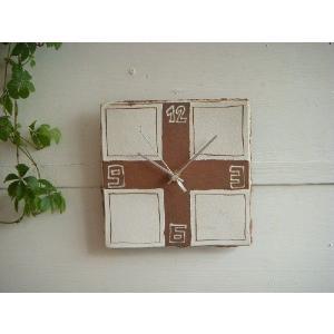 信楽焼 壁掛け時計 CL'−29 スタンド付|010gama