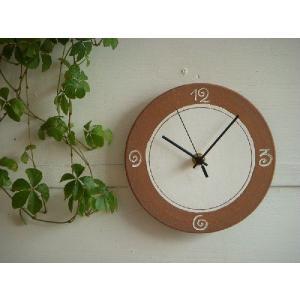 信楽焼 壁掛け時計 CL'−23(S) スタンド付|010gama