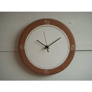 信楽焼 壁掛け時計 CL'−24(L)|010gama