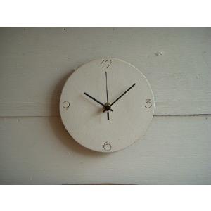 信楽焼 壁掛け時計 CL'−6(S) スタンド付|010gama