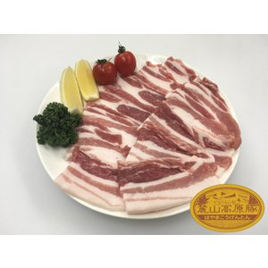 ブランド豚 麓山高原豚 国産 豚 バラ 焼肉 生姜焼き 2~3人前 ( 600g )|029yasan