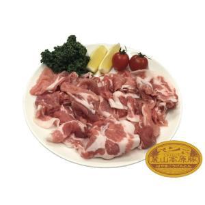 ブランド豚 麓山高原豚 国産 豚 切り落とし 1.2kg ( 200g×6 )|029yasan