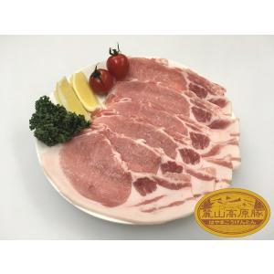 ブランド豚 麓山高原豚 国産 豚 ロース 焼肉 生姜焼き 2~3人前 ( 600g )|029yasan