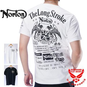 ●商品名 ノートン イーグルエンブレム 刺繍 吸水速乾 天竺半袖Tシャツ 192n1050  ●キー...