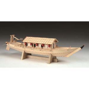 キットは、精密カットされたレーザー加工部品を中心に、和船独特の形状を組立て易くモデル化。屋形室内には...