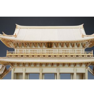 ウッディジョー 1/150 知恩院 三門(未塗装・組立キット) 032hobby 05
