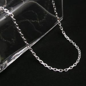 4面カット小豆チェーン シルバーチェーン 太さ約2.5mm 長さ45cm ネックレス 45cm4面カット小豆|06xy