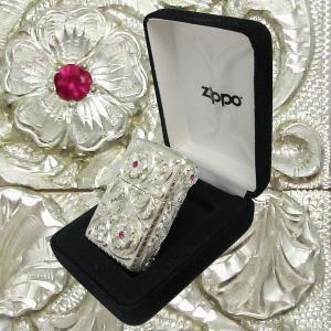 ジッポー Zippo ライター セブン クロス 7CROSS カスタム 1点限定生産 ルビー 6面手彫り|06xy