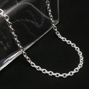 あずきチェーン シルバーチェーン 太さ約3.4mm 長さ45cm 50cm 60cm ネックレス 小豆 あずき|06xy