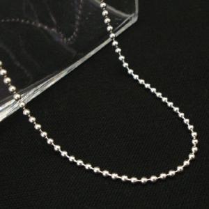 シルバー ボール チェーン 太さ約2.0mm 長さ60cm ネックレス|06xy