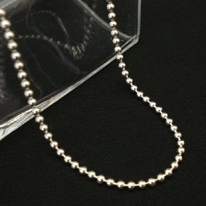 シルバー ボール チェーン 太さ約2.5mm 長さ60cm ネックレス|06xy