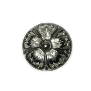 ピューター(錫)コンチョボタン 手彫りコンチョ約31mm 10倍ポイント クボタ クラフト|06xy