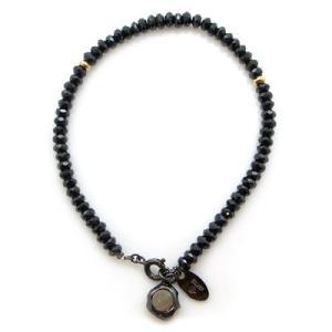 ダグダートDB-139BS 黒蝶貝 ブラックコーティング ブラックスピネル ブレスレット|06xy