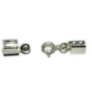 革ひもレザー留め具/シルバー かしめ引き輪タイプ|06xy