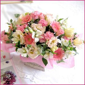 フラワーアレンジメント(フレアー) お誕生日 出産祝い 結婚記念日 お見舞い 開店祝い|087-ie