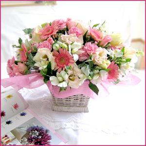 フラワーアレンジメント(フレアー) お誕生日 出産祝い 結婚記念日 お見舞い 開店祝い|087-ie|03