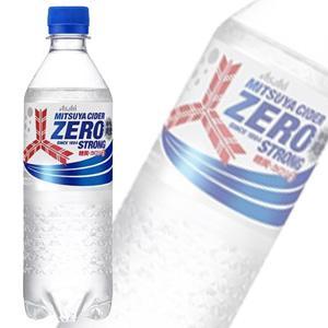 アサヒ 三ツ矢サイダー ゼロストロング PET 500ml×24本入 矢羽根ボトル /飲料