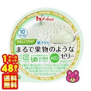 ハウス食品 やさしくラクケア まるで果物のようなゼリー メロン 60g×48個入 /食品|09shop