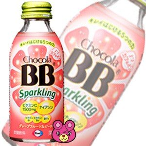 エーザイ チョコラBB スパークリング グレープフルーツ&ピーチ味 瓶 140ml×24本入 /飲料