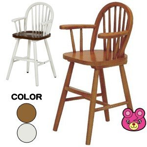 木製ウインザー ベビーチェアー /色はライトブラウン・ホワイトより選べます/代引不可/インテリア:不二貿易51860/87738|09shop