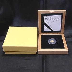 クック諸島 金貨 0.5g AMERIGO VESPUCCI プルーフ 2012年 (木箱入り)