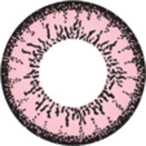 ツートーン ピンク◇ドクターカラコン コンタクトフィルム フチ有 度なし DIA14.0mm|1-d-royal
