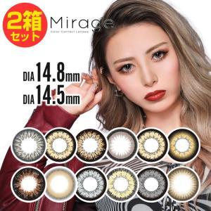 【2箱セット★度あり 2枚】 「Mirage」 ミラージュ 1ヶ月用 度あり 1枚 「盛り系カラコン」再ブレーク DIA14.5mm、DIA14.8mm  1-d-royal