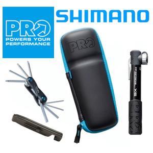 【お得な4点セット】シマノプロPRO カプセルコンビパック ZIPカプセル+携帯ポンプ+携帯工具+タイヤレバー