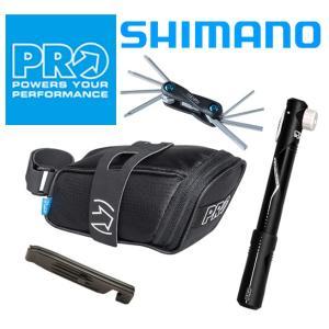 【お得な4点セット】シマノプロPRO コンビパック サドルバッグ+携帯ポンプ+携帯工具+タイヤレバー