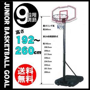 ジュニア用自立式バスケットゴールセット(ミニバスサイズ)