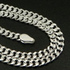 シルバー925 喜平ネックレス  幅2.8mm/長さ60cm/2面カット  喜平チェーン  2.8m...