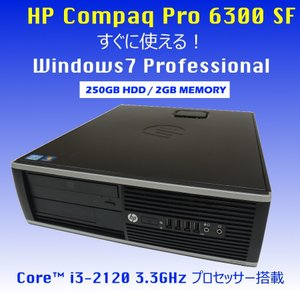 HP Pro 6300 SF Core i3-2120 3....